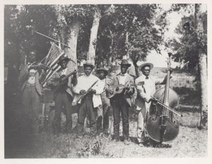 Music performance during a Juneteenth Celebration.