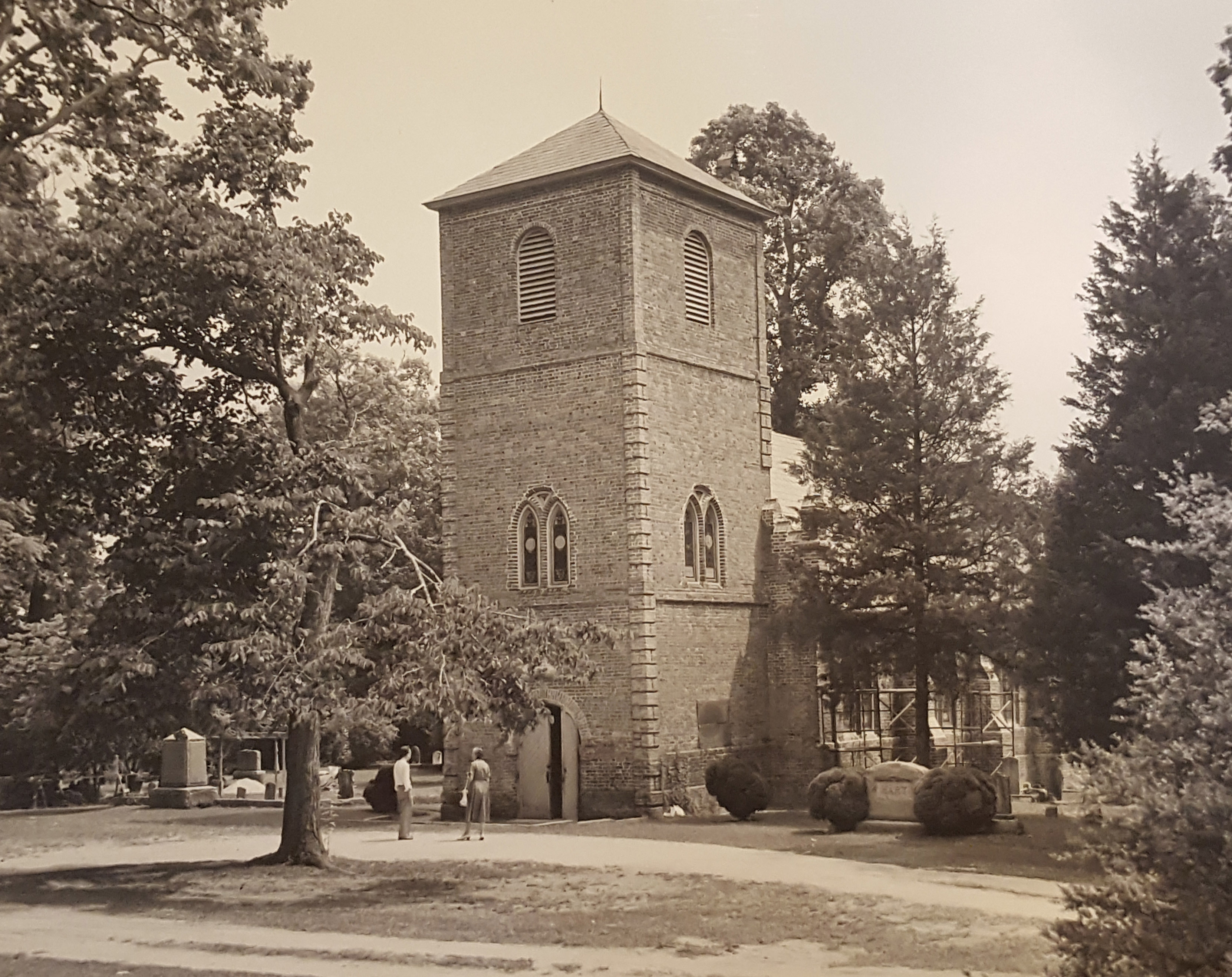 During 1950s Restoration of the Church Building.