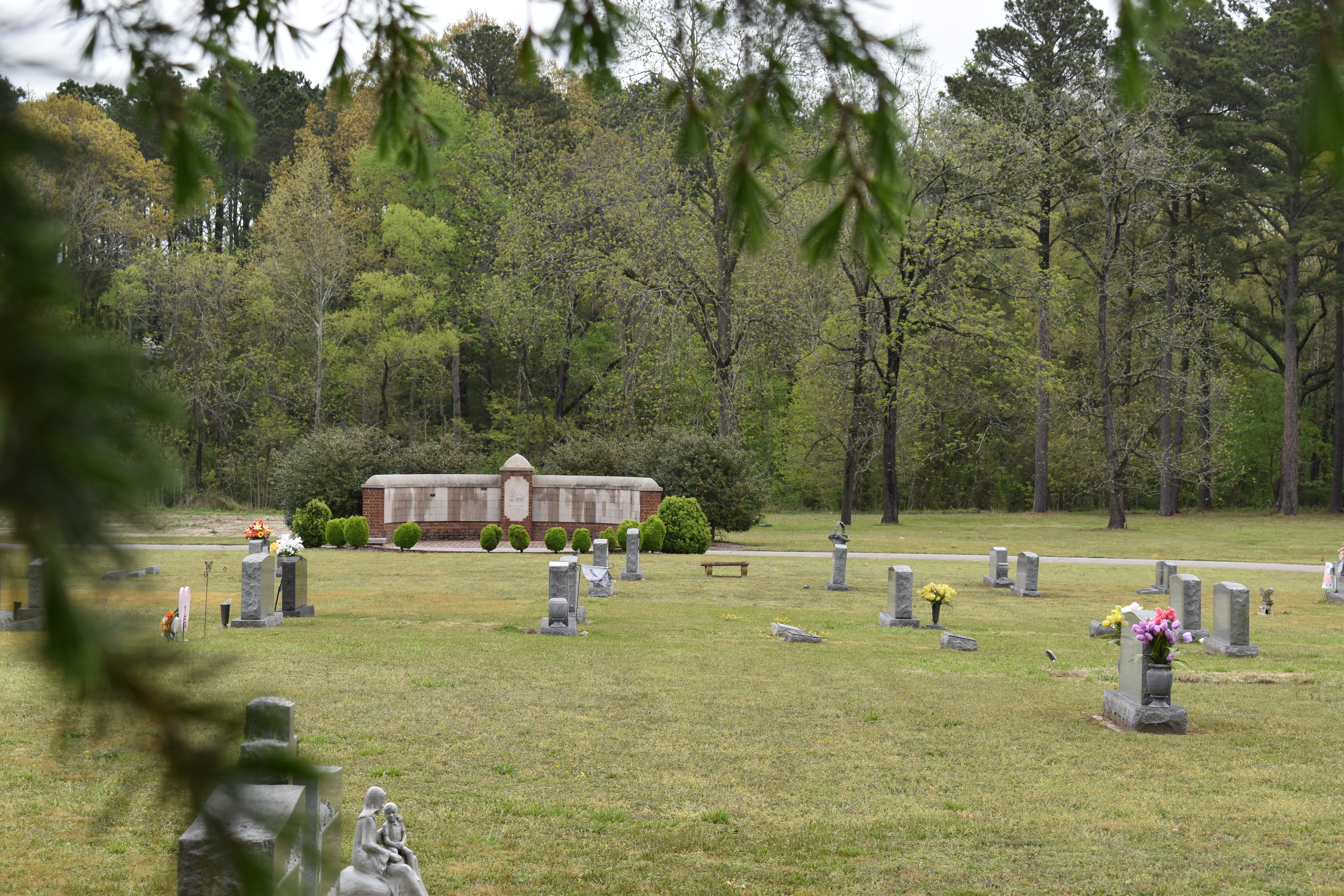 A view towards the columbarium